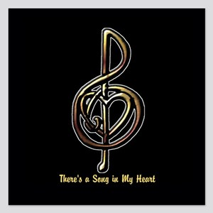 Personalized Music Treble C 5.25 x 5.25 Flat Cards