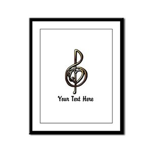 Treble Clef and Heart To Person Framed Panel Print