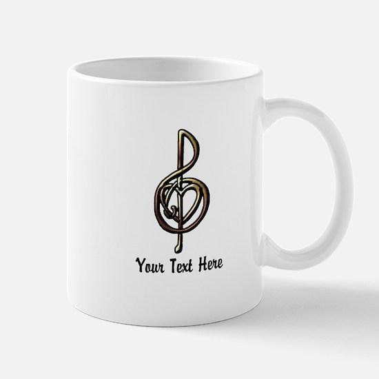 Music Treble Clef Embossed Look Customi Mug