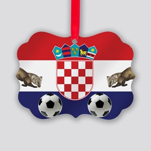 Croatian Football Flag Ornament