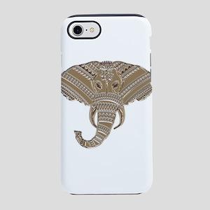 Silver Metallic Elephant Hea iPhone 8/7 Tough Case
