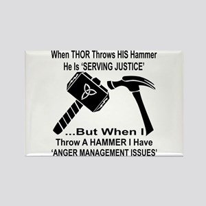 Anger Management Issues Rectangle Magnet