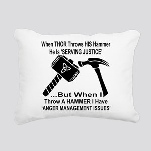 Anger Management Issues Rectangular Canvas Pillow
