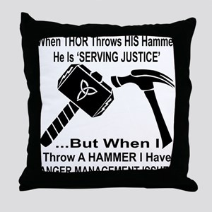 Anger Management Issues Throw Pillow