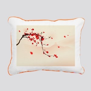 ASIAN TREE BRANCH Rectangular Canvas Pillow