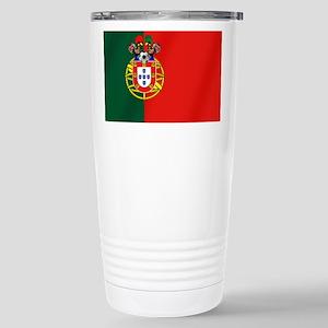 Portugal Football 16 oz Stainless Steel Travel Mug