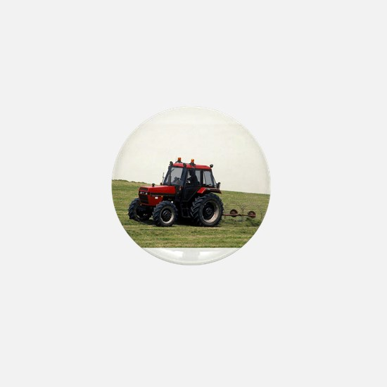 A Red Tractor On The Go Mini Button
