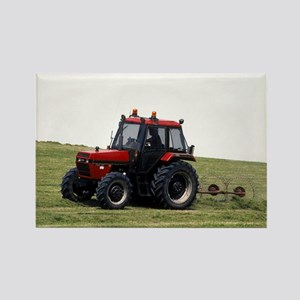 A Red Tractor On The Go Rectangle Magnet
