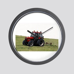 A Red Tractor On The Go Wall Clock