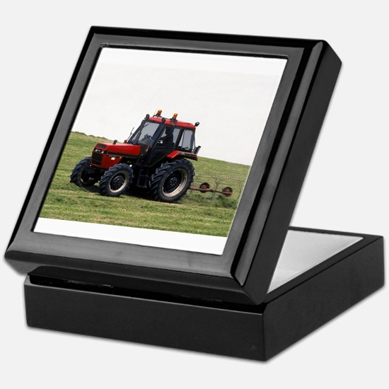 A Red Tractor On The Go Keepsake Box