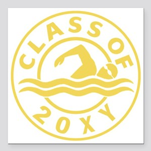"""Class of 20?? Swimming Square Car Magnet 3"""" x 3"""""""