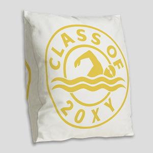 Class of 20?? Swimming Burlap Throw Pillow