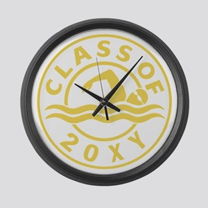 Class of 20?? Swimming Large Wall Clock