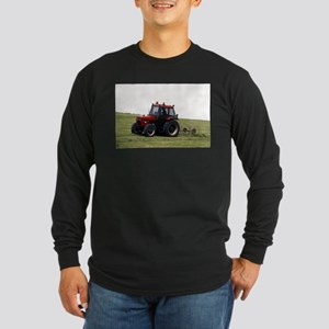 A Red Tractor On The Go Long Sleeve Dark T-Shirt