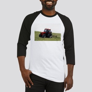 A Red Tractor On The Go Baseball Jersey