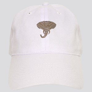 1e46a2137bf Silver Metallic Elephant Head Cap