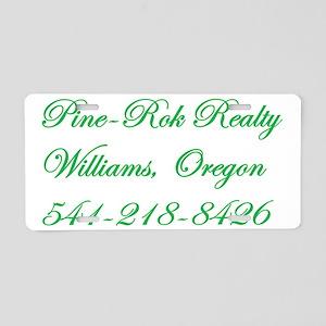 Pine-Rok Realty Aluminum License Plate