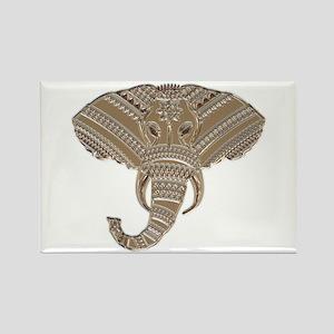 Silver Metallic Elephant Head Magnets