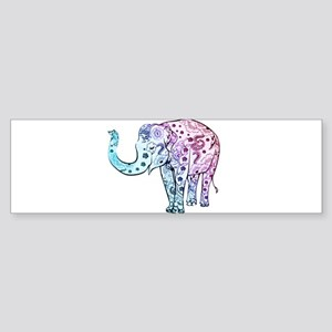 Cool Colored Elephant Bumper Sticker