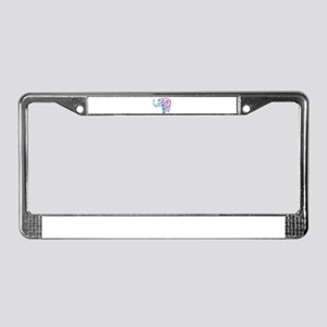 Cool Colored Elephant License Plate Frame