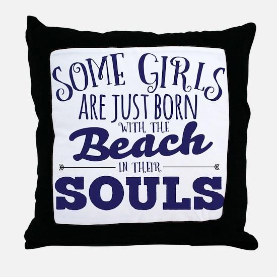 Cute Funny beach Throw Pillow