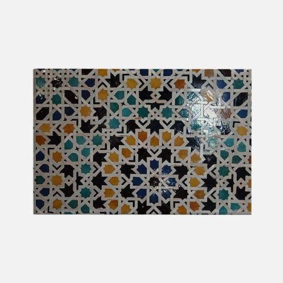 Unique Alhambra Rectangle Magnet