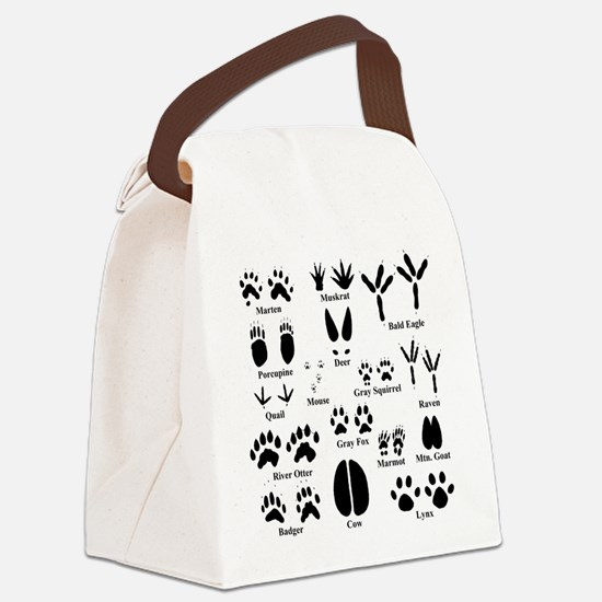 Animal Tracks Collection 1 Canvas Lunch Bag