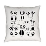 Animal Tracks Collection 1 Everyday Pillow