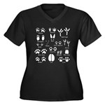 Animal Tracks Collection 1 Plus Size T-Shirt
