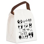 Animal Tracks Collection 2 Canvas Lunch Bag