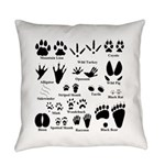 Animal Tracks Collection 2 Everyday Pillow