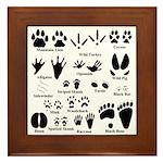 Animal Tracks Collection 2 Framed Tile