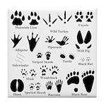 Animal Tracks Collection 2 Tile Coaster