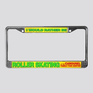 roller skating License Plate Frame