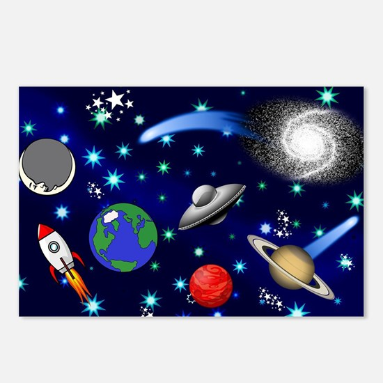 Kids Galaxy Universe Illu Postcards (Package of 8)