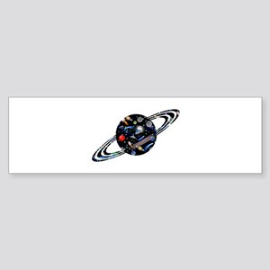 Kids Galaxy Universe Planet Illustr Bumper Sticker