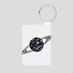 Kids Galaxy Universe Planet Illustration Keychains