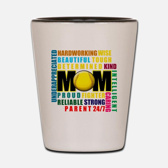 Funny Single moms Shot Glass