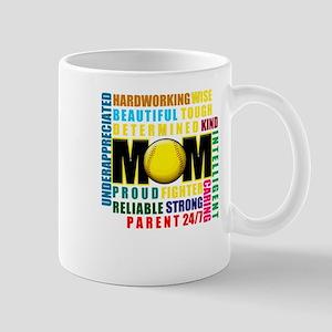 Baseball Mom T Shirt Mugs