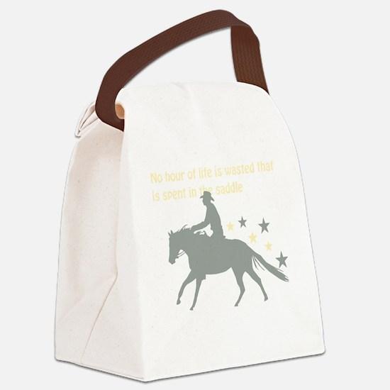 Cute Horse saddle Canvas Lunch Bag