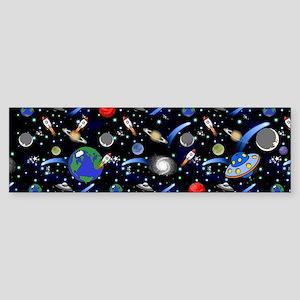 Kids Galaxy Universe Illustrations Bumper Sticker