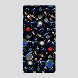 Kids Galaxy Universe Illustrations Beach Towel
