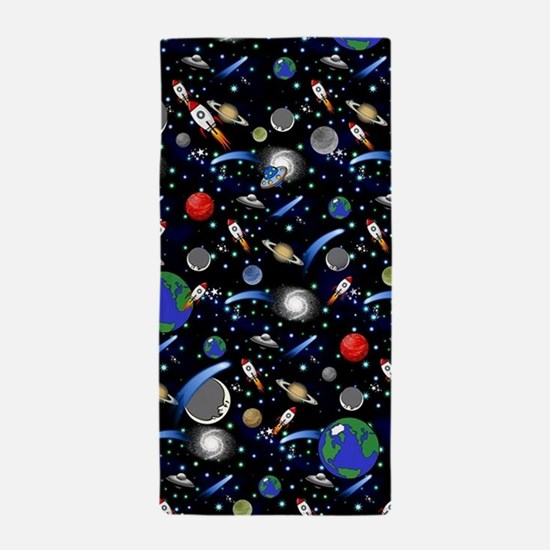 Kids Galaxy Universe Illustrations Beach Towel