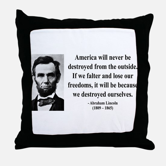 Abraham Lincoln 2 Throw Pillow