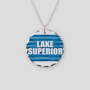 Lake Superior Necklace Circle Charm
