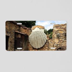 Giant scallop shell, El Cam Aluminum License Plate