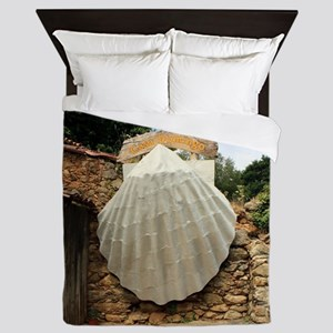 Giant scallop shell, El Camino Queen Duvet