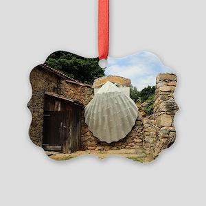 Giant scallop shell, El Camino Picture Ornament