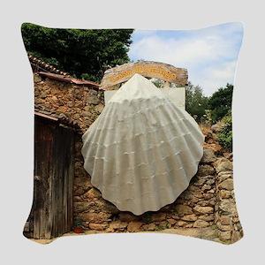 Giant scallop shell, El Camino Woven Throw Pillow