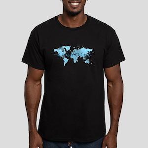 Wanderlust, blue world map T-Shirt